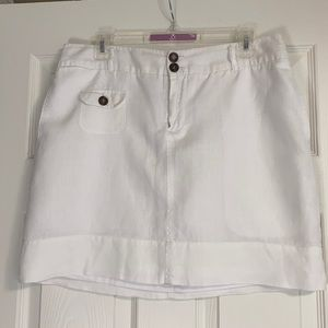 Cynthia Rowley white linen skirt. 10